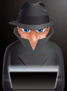 Informatic spy (EPS 10,includes transparency)