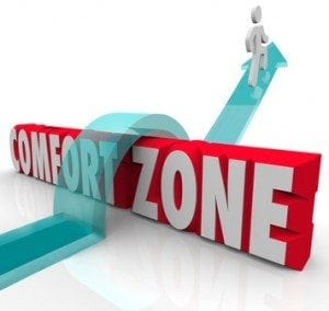 Going Outside Over Comfort Zone Try Different Experience Grow