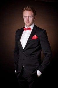 elegant man in a tuxedo